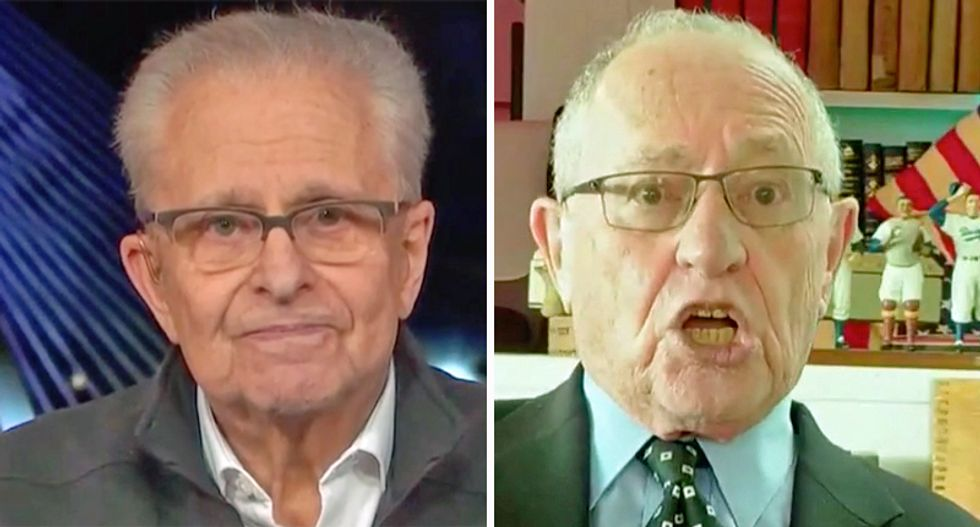 Laurence Tribe dunks on Harvard Law colleague Alan Dershowitz for pushing 'government by egomania'
