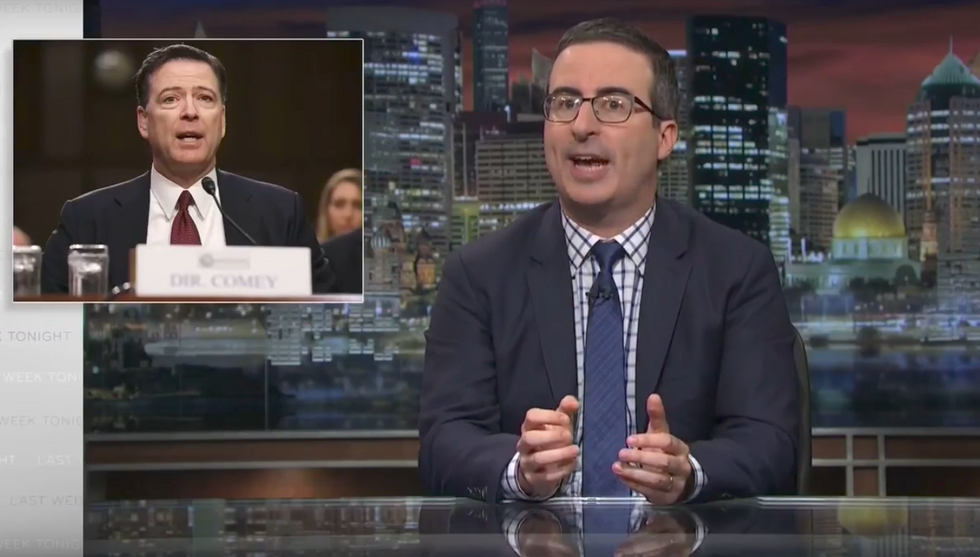 John Oliver: Donald Trump lies so much he's become a 'walking logical paradox'