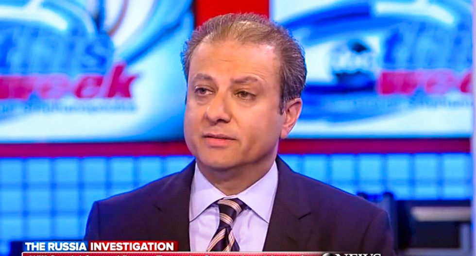 Ex-US Attorney Bharara: Mueller will watch for Trump's overreaction to Monday's arrests before making next move