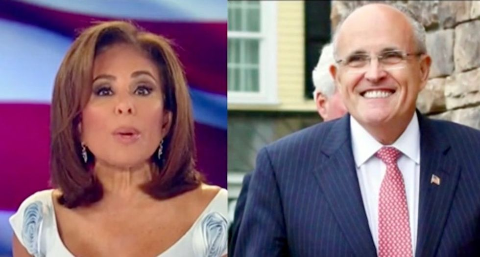 Rudy Giuliani tells Fox News host Jeanine Pirro that Michael Cohen 'tampered with' Trump tapes