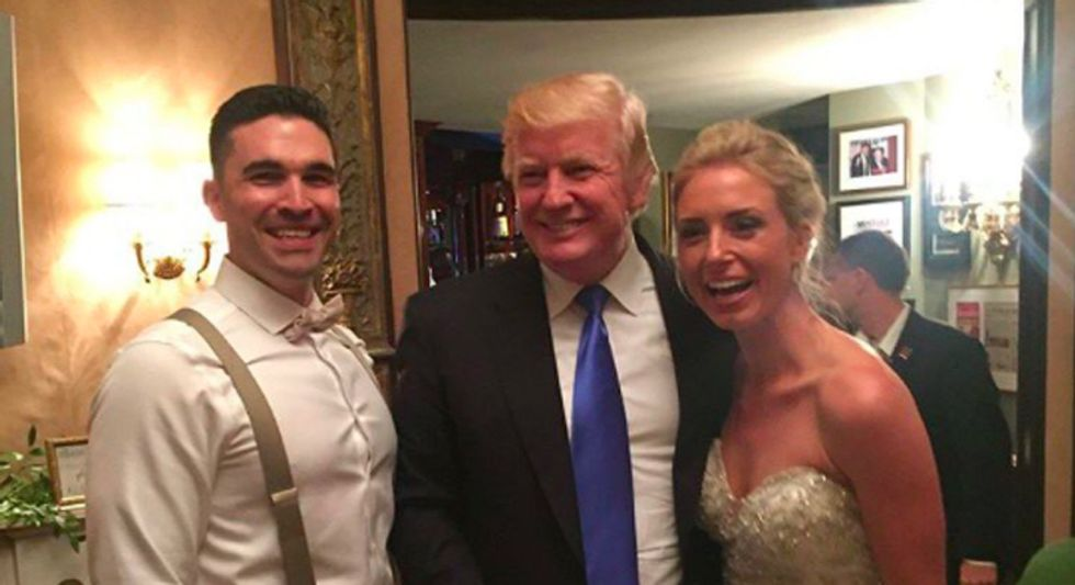 Trump drops by wedding at his New Jersey golf club