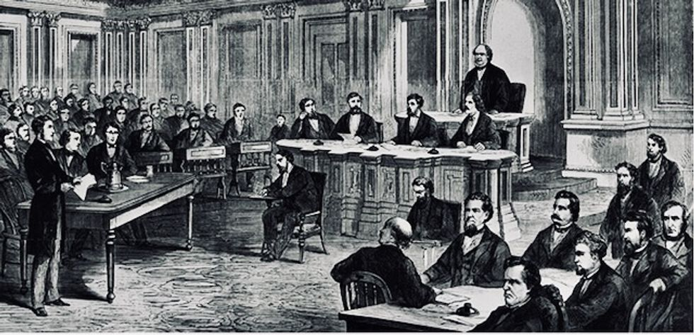 The Senate has actually tied in an impeachment trial – twice
