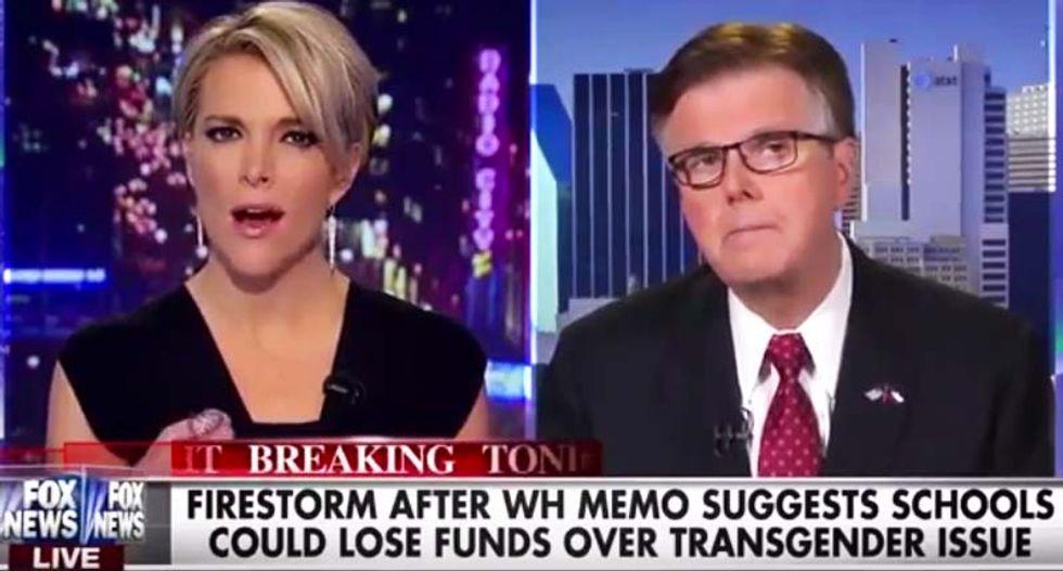 WATCH: Megyn Kelly shuts down Texas Lt. Gov. on the myth of trans women assaulting little girls