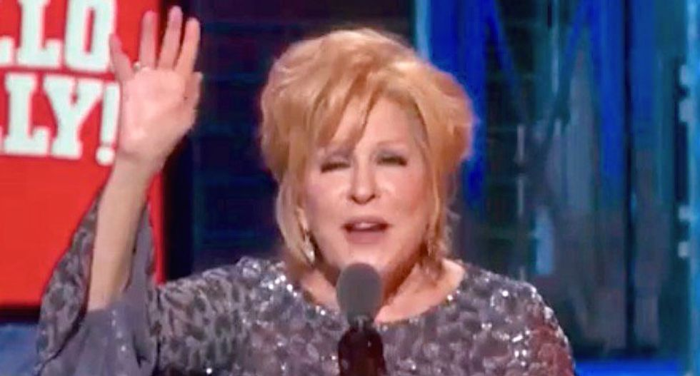 Bette Midler's latest Trump rant has his supporters fuming