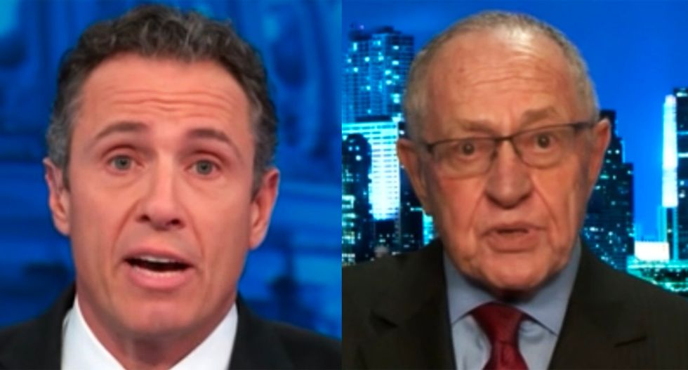Combative Alan Dershowitz accuses CNN's Cuomo of distorting his words after confronted with impeachment trial clip