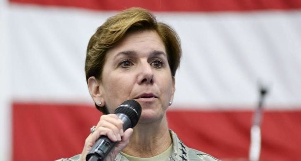 Air Force general becomes first woman to lead US military activities in North America