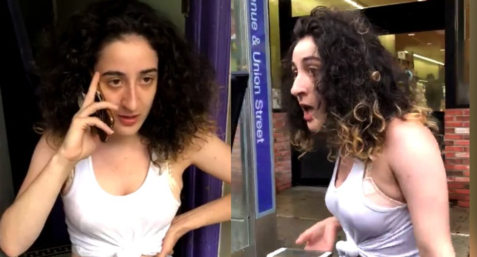 WATCH: New York woman loses it and rants to police after seeing black woman outside her door