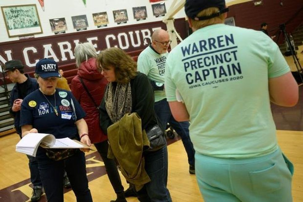 'Be patient. This is democracy': Iowa's quirky caucuses