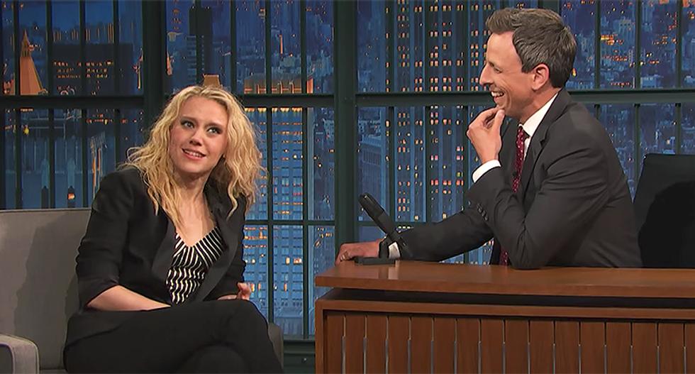 WATCH: SNL's Kate McKinnon hilariously improvises a parody of Jeff Sessions testimony
