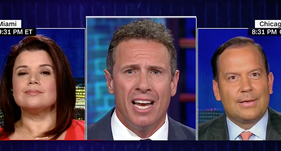 CNN's Chris Cuomo hammers conservative's alternative facts on Trump's wall: 'You guys make up this BS -- this isn't Game of Thrones'