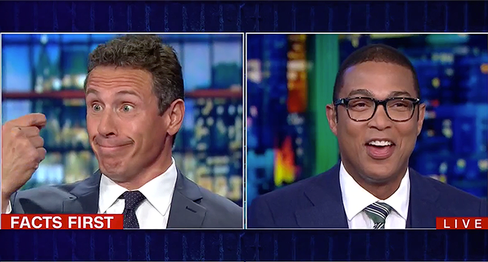 CNN's Chris Cuomo and Don Lemon laugh hysterically at Steve Cortes for making things up on air