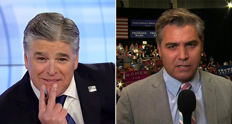 Fox News' unglued Sean Hannity curses out CNN's Jim Acosta