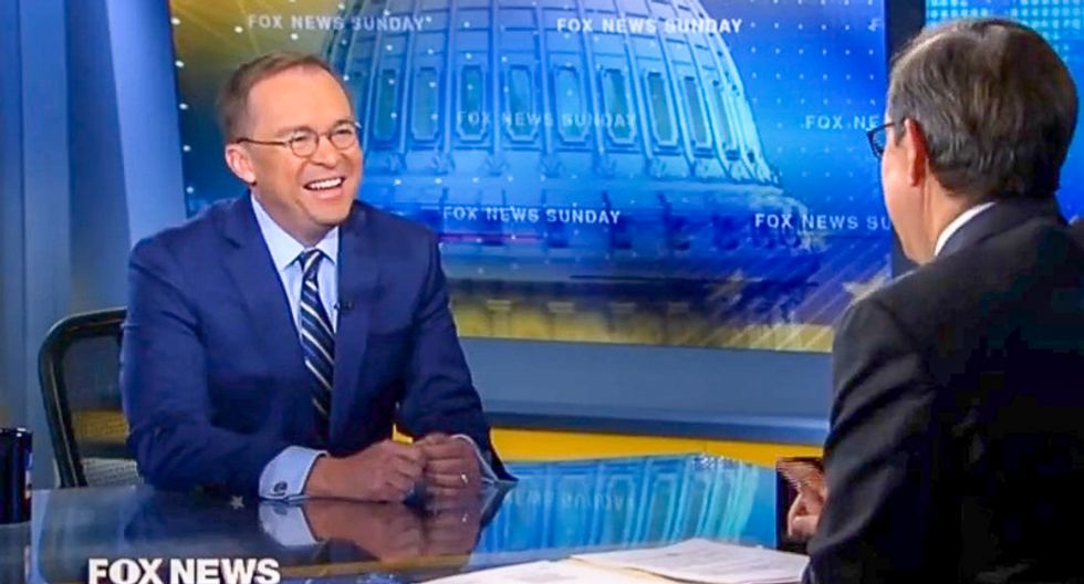 'People see you laughing': Chris Wallace nails Mick Mulvaney for chuckling at acting AG's disrespect for Congress