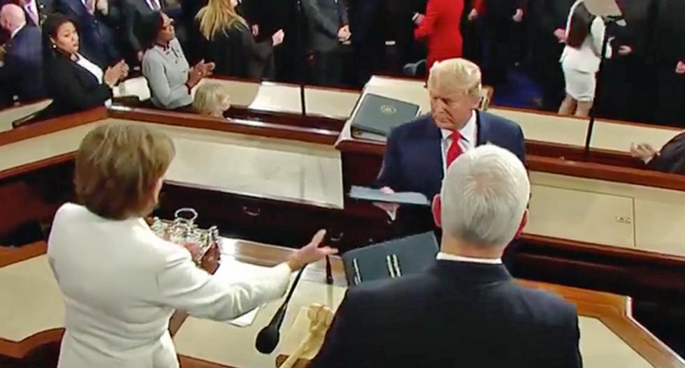 'Wowza': SOTU audience shocked Trump 'snubbed' Nancy Pelosi's handshake