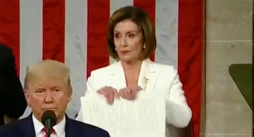 Nancy Pelosi explains why she ripped up Trump's speech after State of the Union address