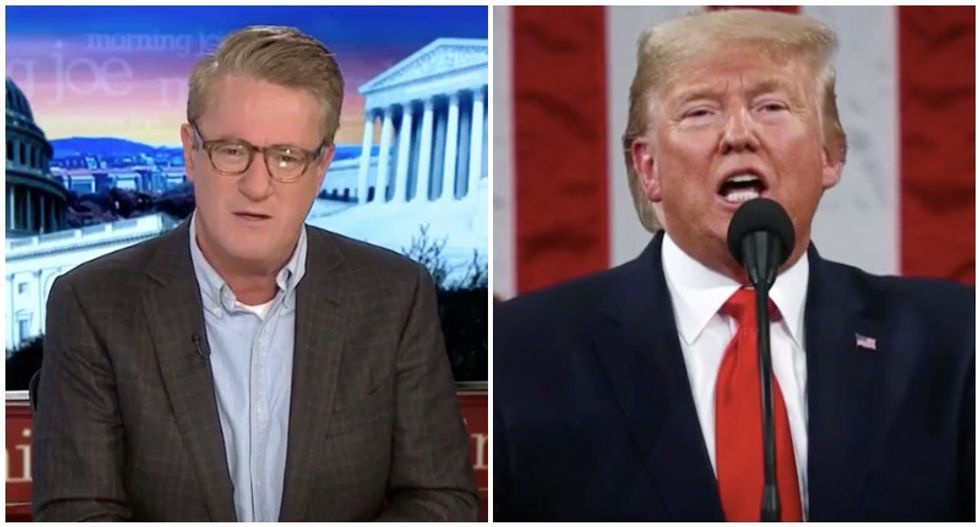 'Fed by lies!' MSNBC's Morning Joe blasts everyone praising Trump's 'preposterous' SOTU address