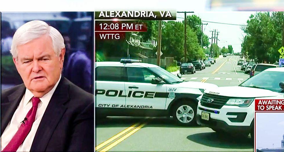 WATCH: Fox host shames Newt Gingrich for blaming GOP baseball shooting on 'vulgar' Democrats