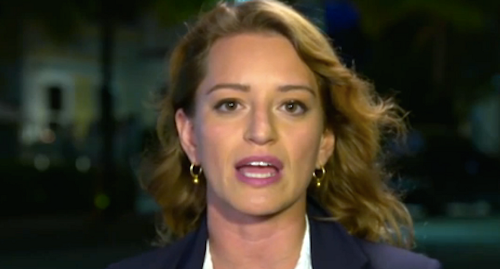 'Not true': Katy Tur - a victim of Trump's vile words - rips claim president never advocated violence