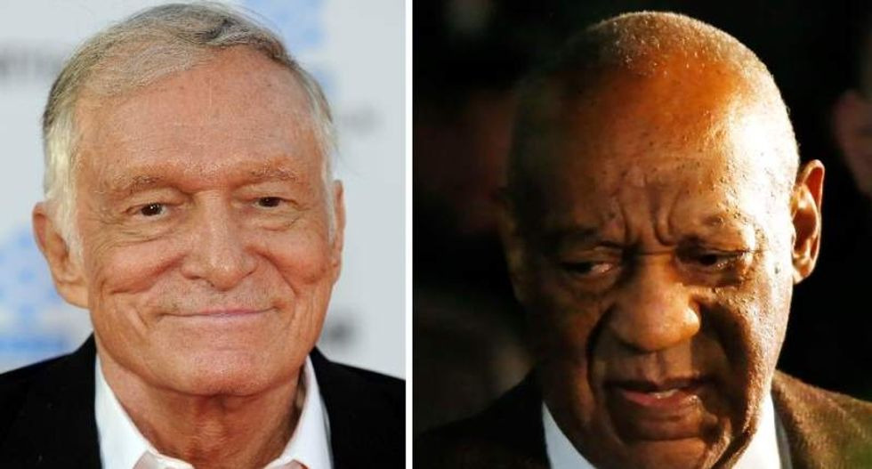 New assault lawsuit accuses Playboy founder Hugh Hefner of encouraging Bill Cosby