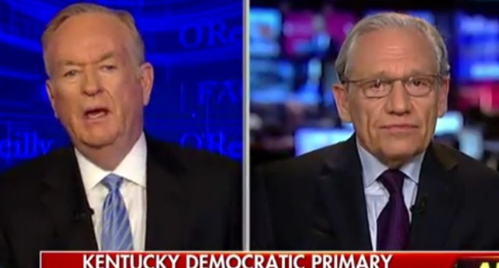 Bob Woodward smacks down Bill O'Reilly's complaints over 'feminists' reporting on Trump