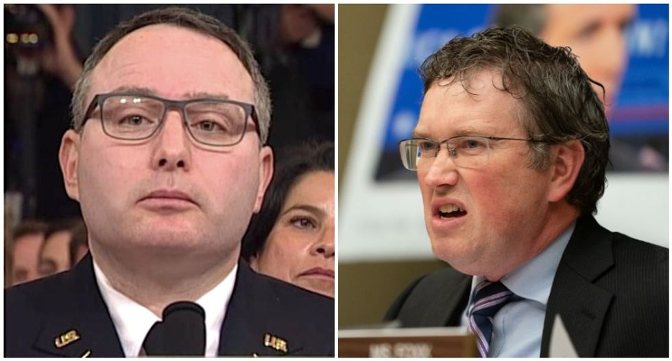 'Disgraceful': GOP's Thomas Massie ripped to shreds for smearing Lt. Col. Vindman