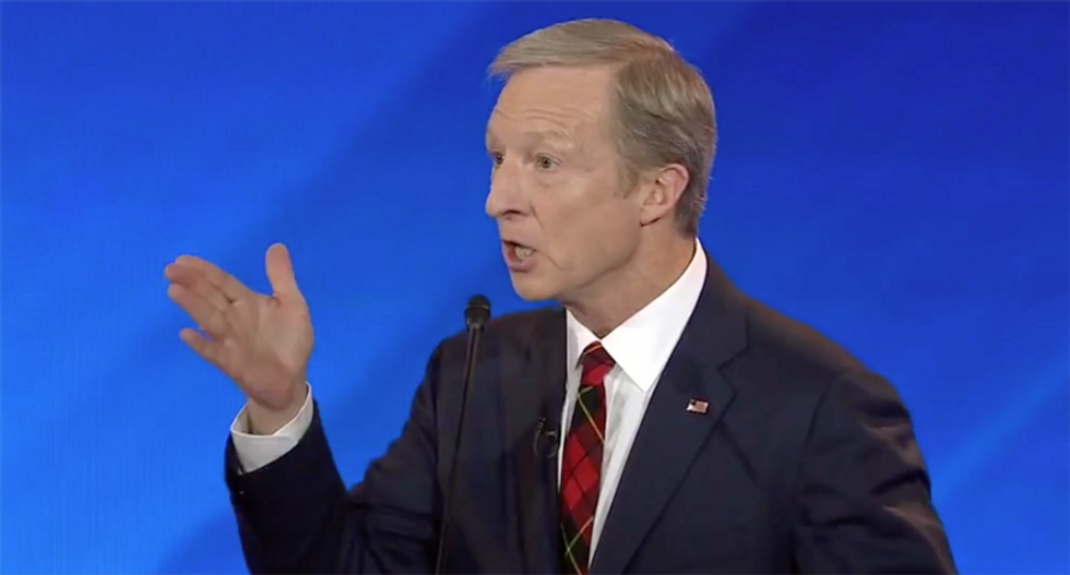 Debate audience goes wild as Tom Steyer lectures Democrats to stop arguing about health care and focus on Trump