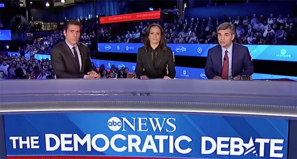 ABC News moderators blasted for hosting the 'erase Warren debate' as the men shout at each other