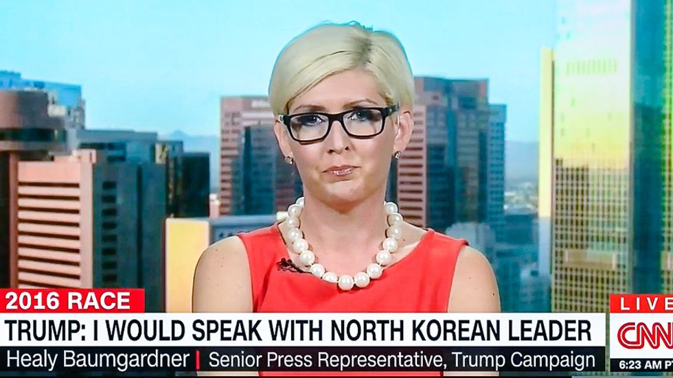'Like an SNL skit': Trump spokesperson crashes and burns on CNN -- then gets destroyed on Twitter