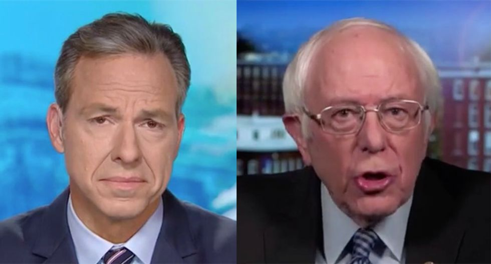 Bernie Sanders fires back at CNN's Tapper after being confronted with past statements about income inequality