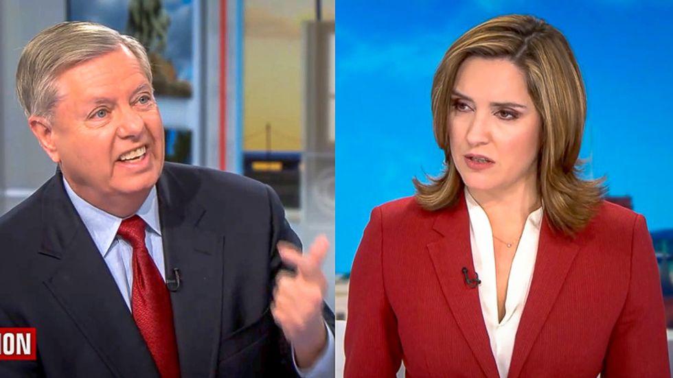 'That's retaliation': CBS host stuns Lindsey Graham as he backs Trump's firing of impeachment witnesses