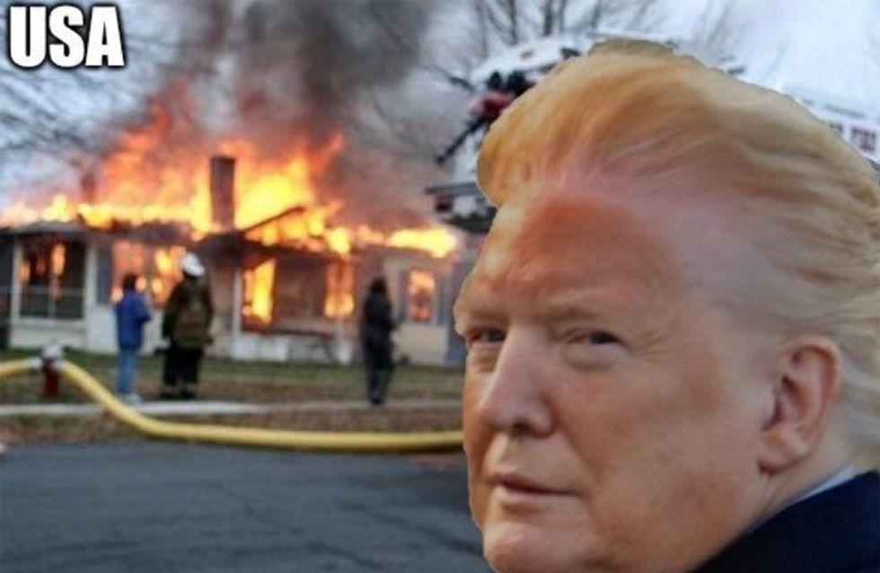 Trump buried in brutal #orangeface memes after bizarrely sharing disturbing photo of himself