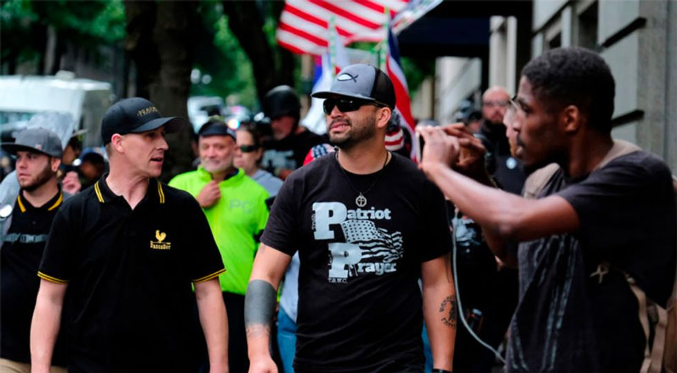 WATCH LIVE: Right-wing face off with counter-protesters at tense Portland rally