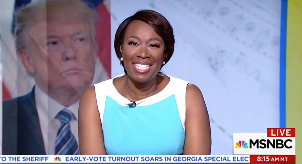 'Obsessed with Obama much?': Watch Joy Reid ridicule Trump's popularity tweet -- then burn it to the ground
