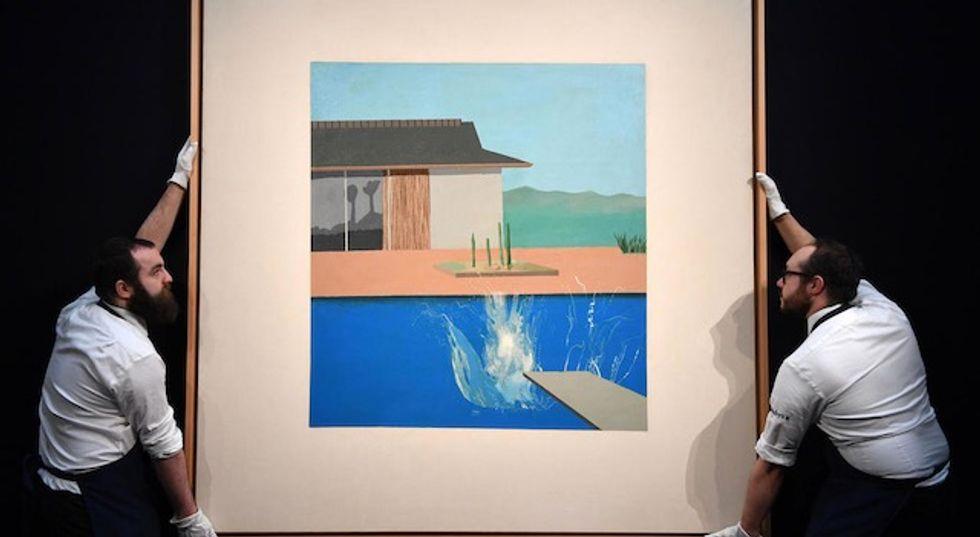 "David Hockney's pop art icon ""The Splash"" sells for £23.1 million"