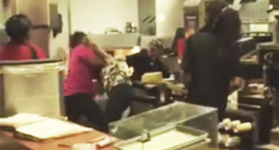 WATCH: South Carolina McDonalds employees get into wild and bewildering fight over pies