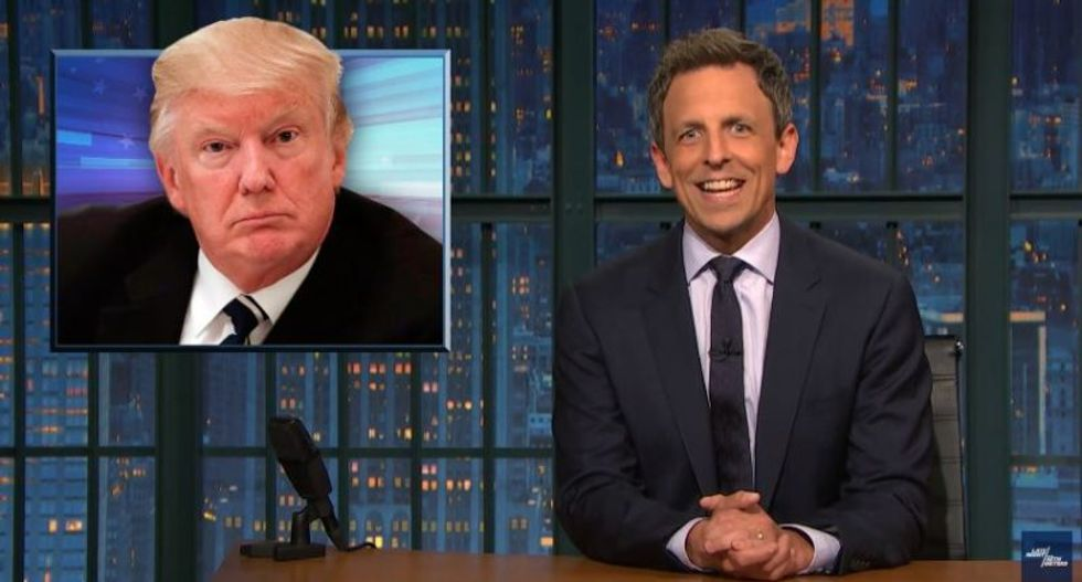 'Our president is an assh*le': Watch Seth Meyers rake Trump over the coals for his 'unhinged' NFL rant