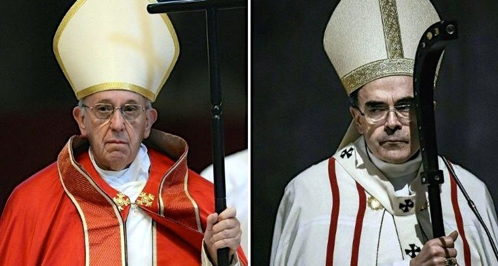 Pope under fire for meeting French cardinal accused of sex abuse cover-up
