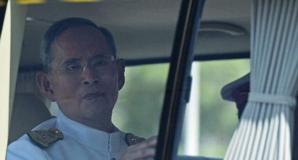 Ailing Thai king treated for excess fluid in spine and brain