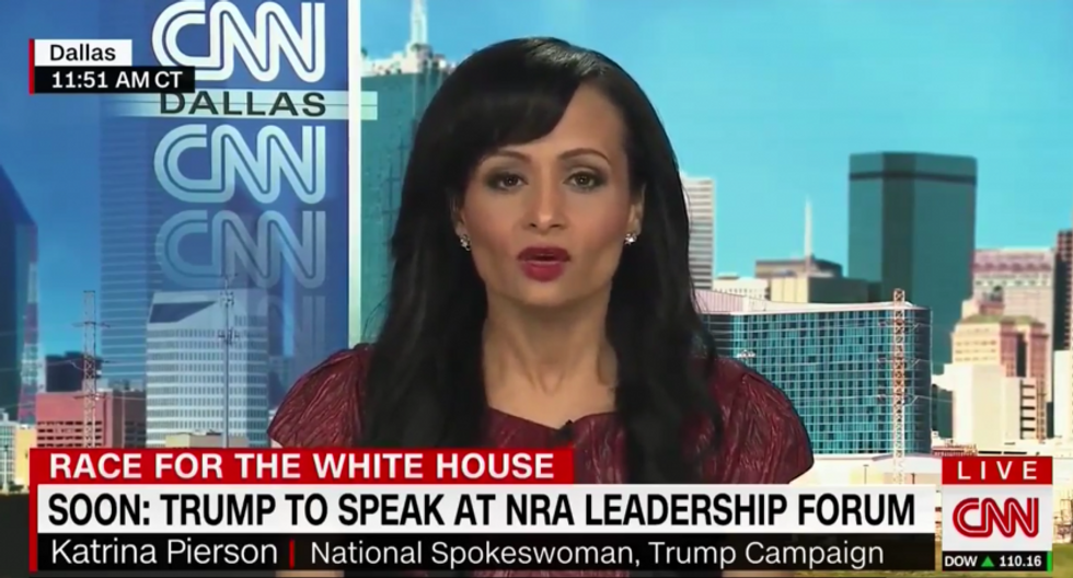 WATCH: Trump spokesperson dodges question on proposed Muslim ban by blaming Bill Clinton for 9/11