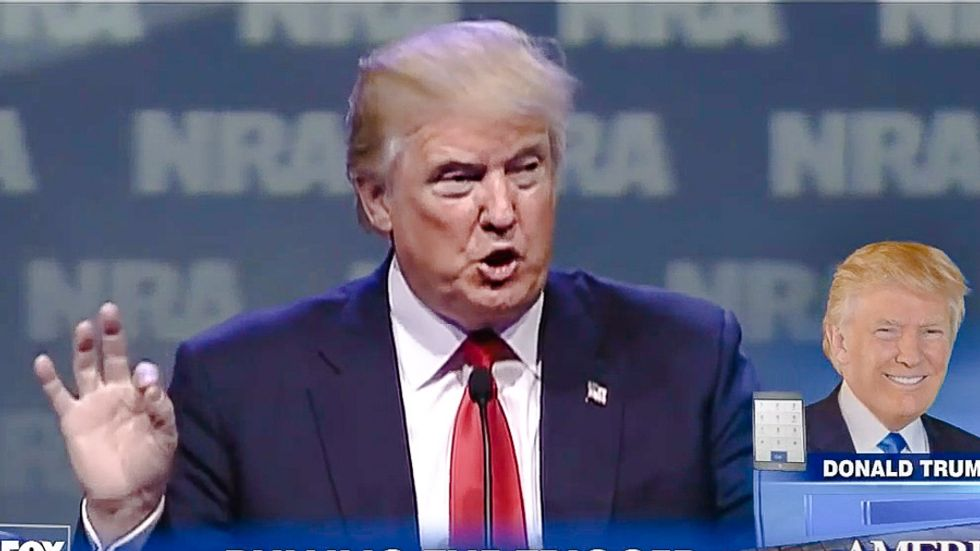 Trump to use massacres to advance his anti-immigrant policies -- by teasing support for gun reform
