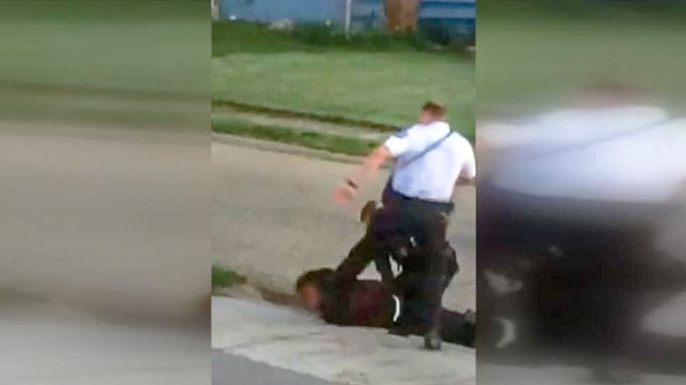 Ohio cop gets 24-hour suspension for kicking black man in head while he is laying face down on sidewalk