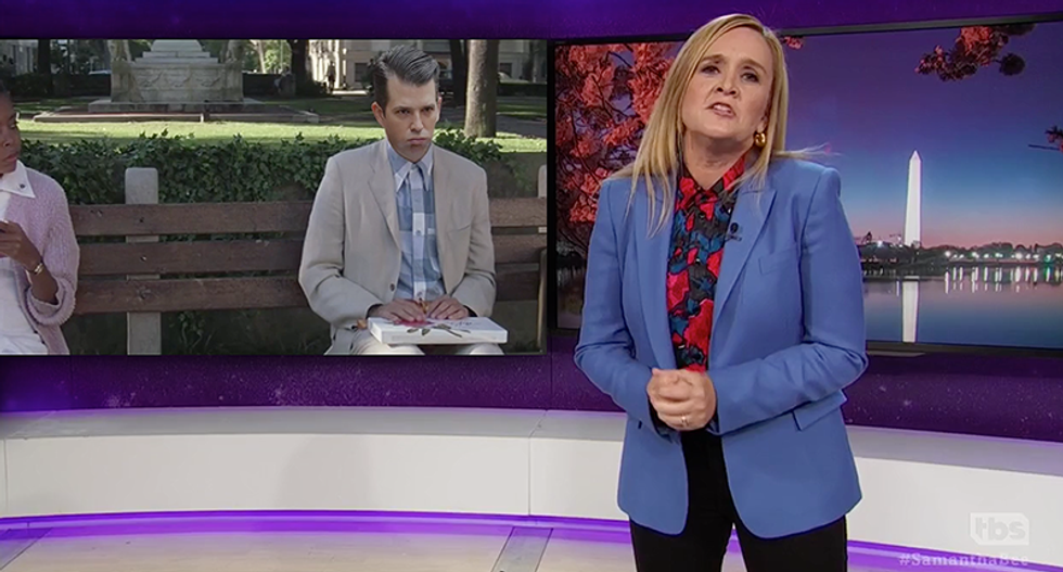 'The Forrest Gump of collusion': Samantha Bee mocks Don Jr. for being the one who might bring down Trump's presidency