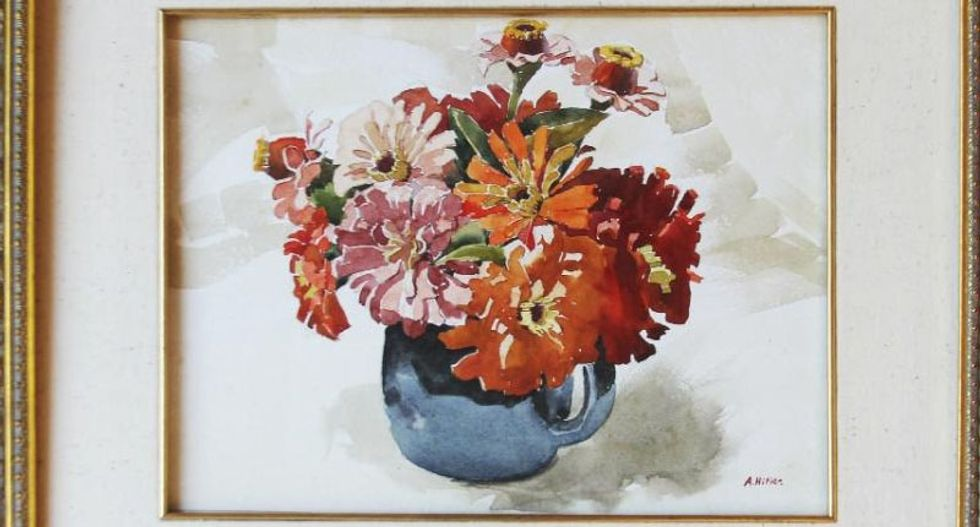 Watercolor painting of flowers by Adolf Hitler to be auctioned in Los Angeles