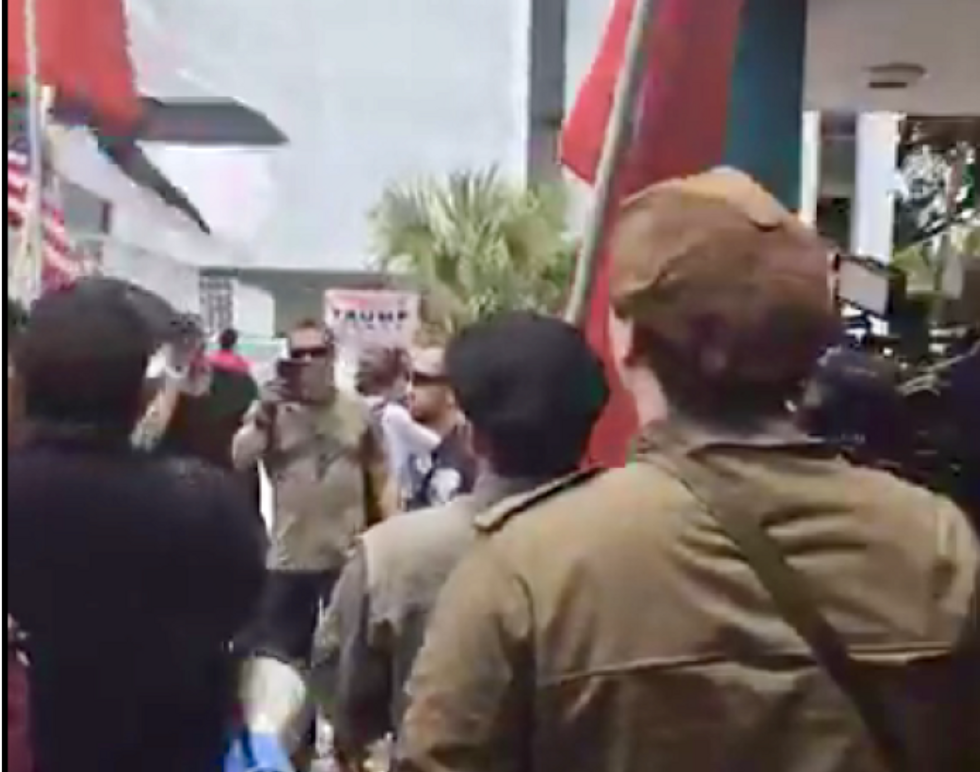 Pro-KKK protesters chant 'Trump! Trump!' at Florida rally to change Confederate-named streets