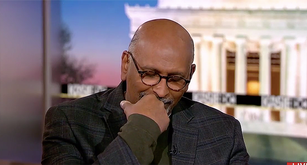'America -- y'all gotta wake up': MSNBC panel cracks up laughing at Trump bizarre claims about the border wall