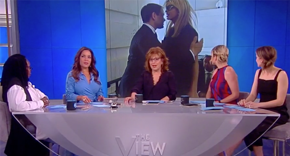 'This is just funny -- not fake news': View hosts mock Ivanka Trump's inability to laugh about awkward Rubio hug