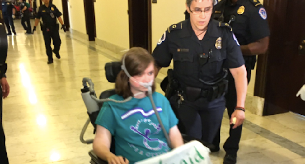 WATCH: 'Blood on the floor' as Capitol police drag Trumpcare protesters from outside McConnell's office