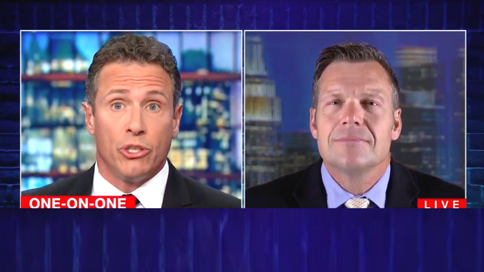 Trump-loving Kris Kobach reverses course on overseeing his own recount --  tells CNN's Chris Cuomo he'll recuse himself