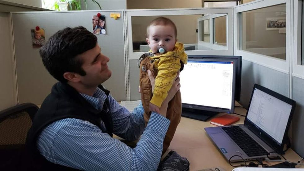 States adopt 'bring baby to work' plans but lag on paid leave