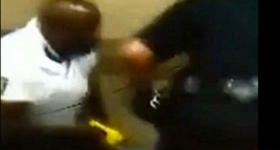 WATCH: All hell breaks loose as cops use Taser on parents at overcrowded high school graduation